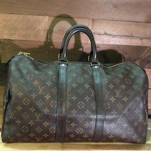 LOUIS VUITTON Monogram Keepall 45 M41428 Handbag